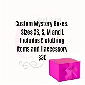MYSTERY BOX ON YOUR SIZE 5 Items of Clothing 1 Acc